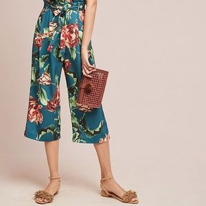 NWT Anthropologie PatBO Cropped Floral Pants sZ 6